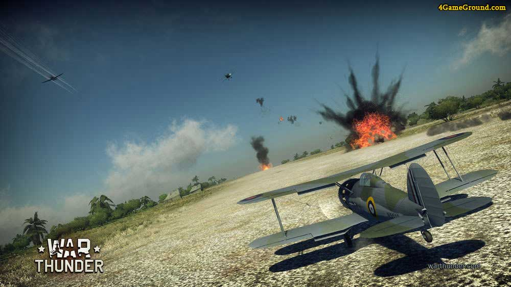 online war thunder game