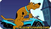 Scooby-Doo on motorcycle track