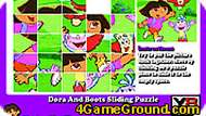 Dora and Boots sliding Puzzle