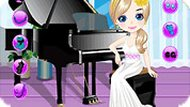 Girl Play the Piano