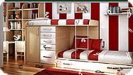 Kids Red Bedroom Hidden Alphabets