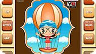 Parachute Flying Cartoon Girl Dress up