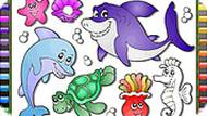 Sea Animals Online Coloring
