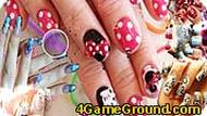 Beautiful Girl Nails Design Hidden Letters