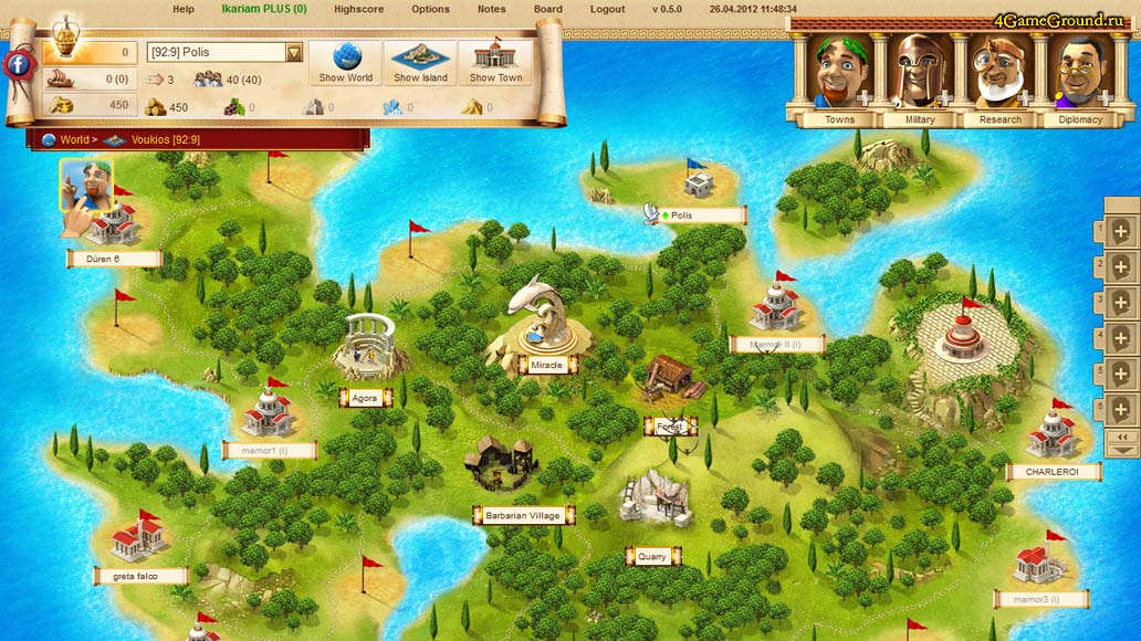 Play Ikariam Game Online For Free