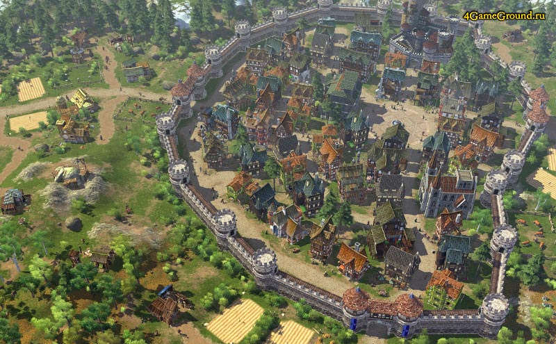 The Settlers Online - well-protected city