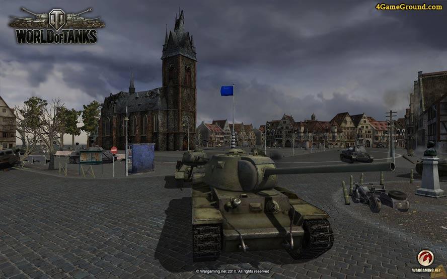 World of Tanks - soviet tanks in city