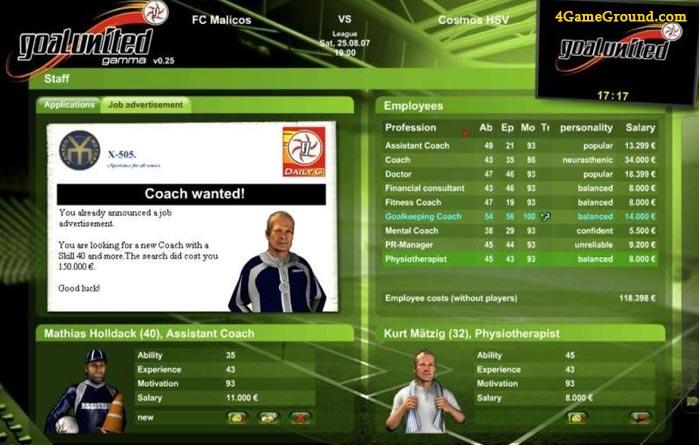Goalunited - coach wanted!
