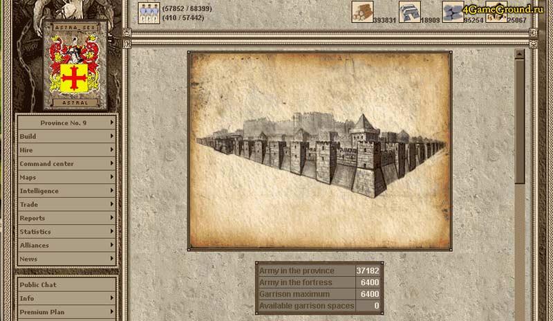 Imperia online - castle information