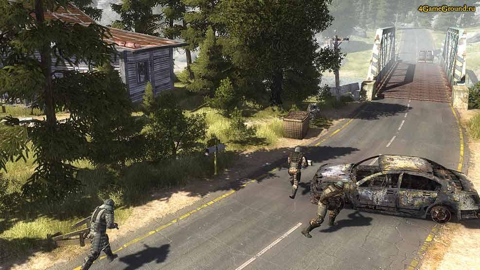 Affected Zone - battle near the bridge