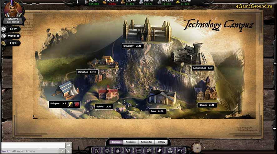 Alliance Warfare - castles