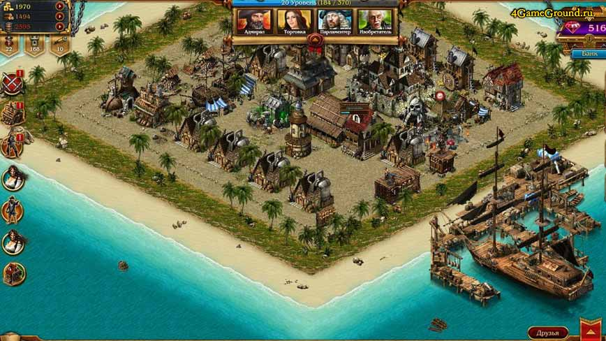 Pirates Tides of Fortune - your island
