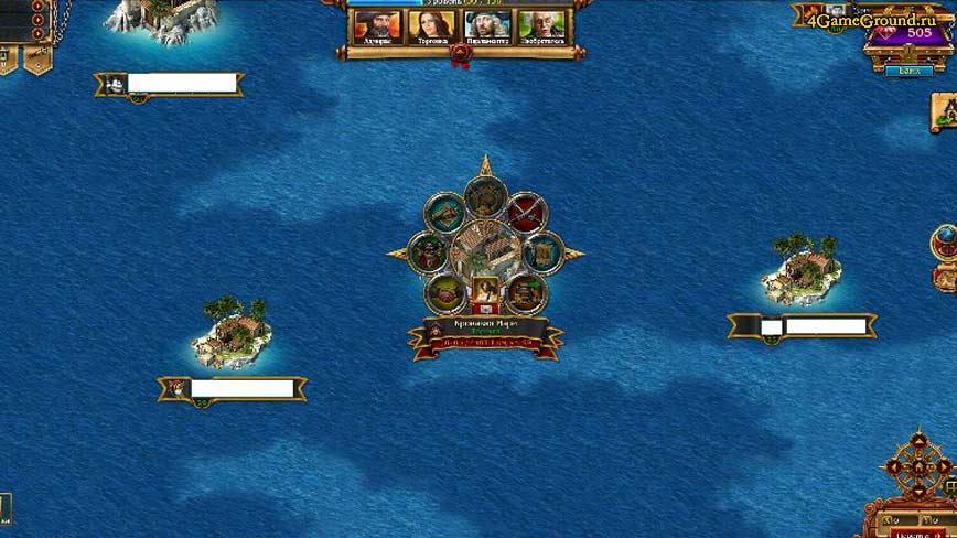 Pirates Tides of Fortune - map