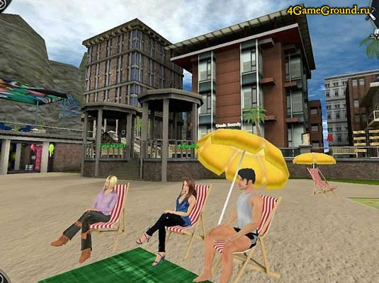Love City 3D - on the beach