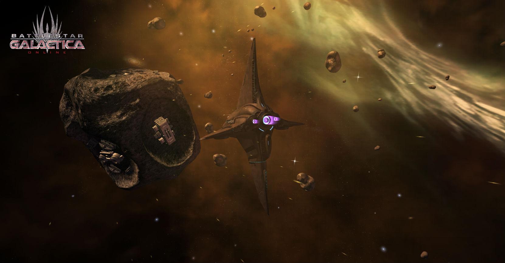 Battlestar Galactica - ships in space
