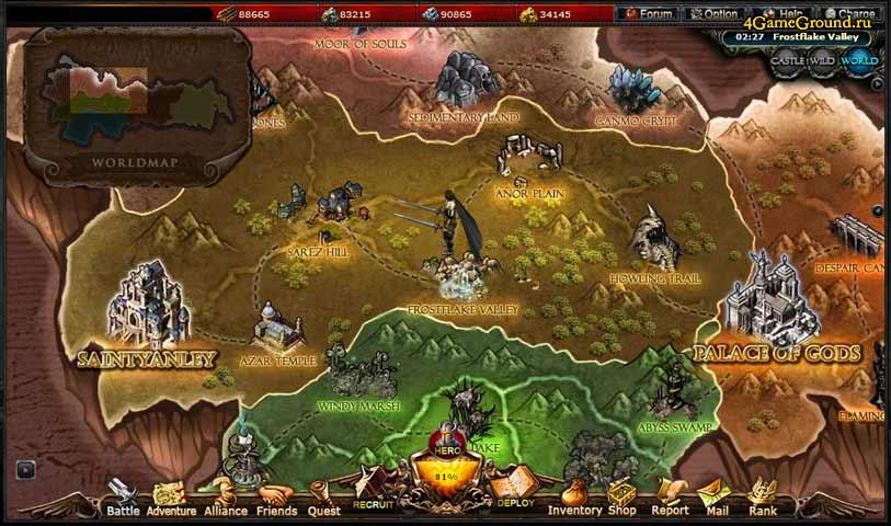 Call of Gods - map