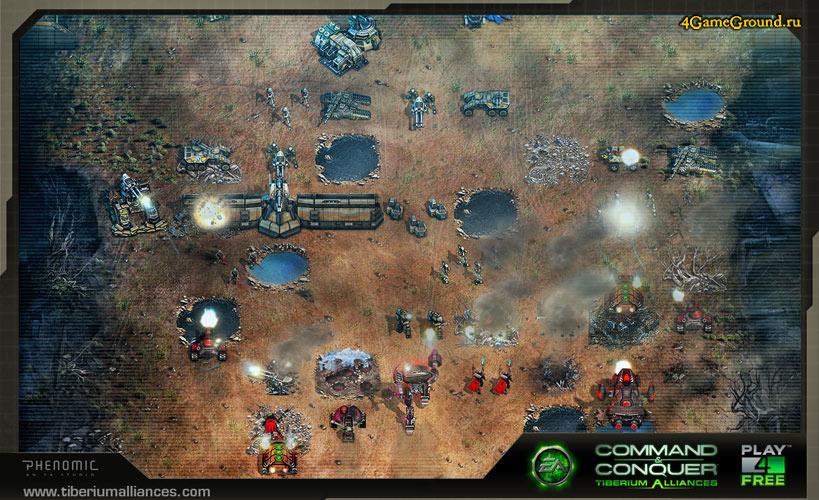Command & Conquer: Tiberium Alliances - battlefield