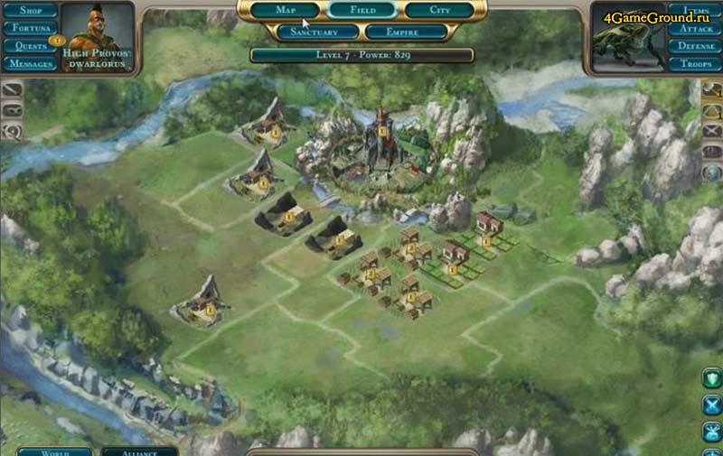 Dragons of Atlantis - your settlement