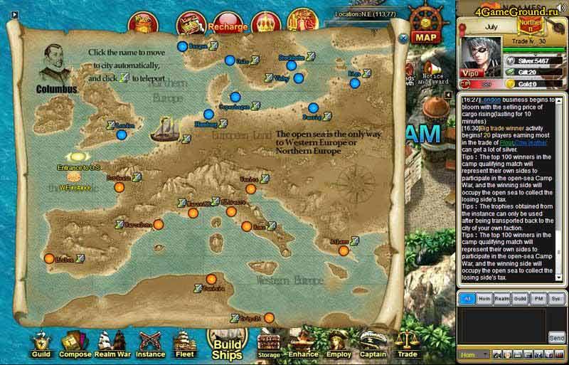 Grand Voyage - Europe map