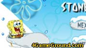 SpongeBob on the glacier
