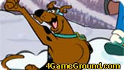 Scooby snowboarding