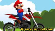 Mario Motocross forest edge