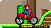 Mario on a motorcycle in the highlands