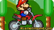 Mario on a motorcycle
