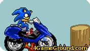 Motor Racing Sonic in Mario World
