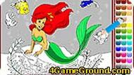 Mermaid Ariel Coloring