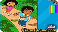 Dora and Diego Adventure Coloring 2