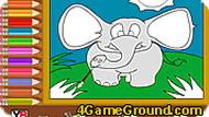 Elephant Coloring Game