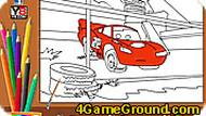 Lightning Mcqueen Coloring Game