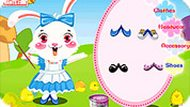 Easter Bunny and Colorful Eggs
