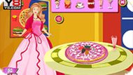 Cooking Barbie Candy Pizza