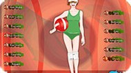 Beach Volleyball Girl Dress Up