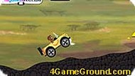 Curious George Car Driving Challenge Game
