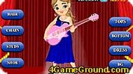 Cute Guitar Girl Dress Up